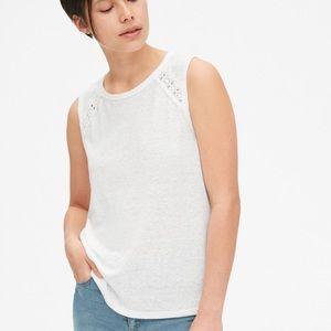Gap lace insert sleeveless top M